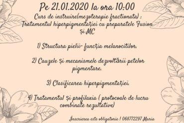 Curs de instruire (mezoterapie fractionata): Tratamentul hiperpigmentatiei cu preparatele FUSION si MCCOSMETIC
