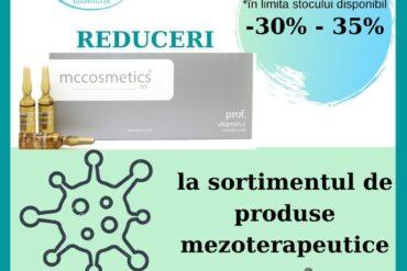 СКИДКА -30% и 35% на продукцию MEZOTHERAPEUTIC mcccosmetics